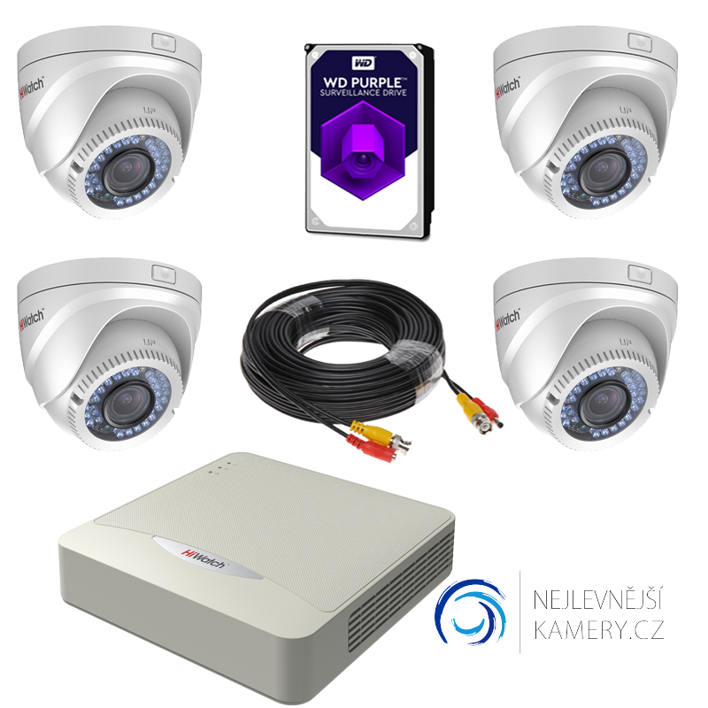 1MP HD 4-kamerový set od Hikvision