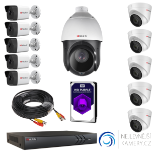 3MP 11-kamerový set od Hikvision