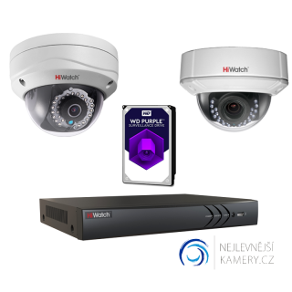 1MP IP HD 2-kamerový set od Hikvision