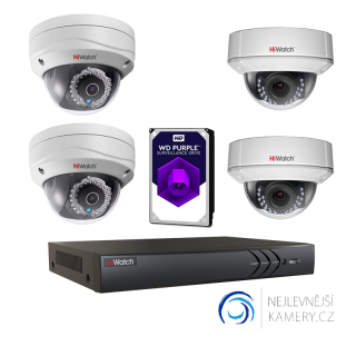 1MP IP HD 4-kamerový set od Hikvision