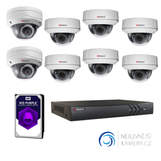 1MP IP HD 8-kamerový set od Hikvision