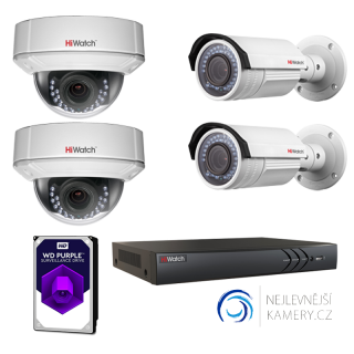 2MP IP FullHD 4-kamerový set od Hikvision