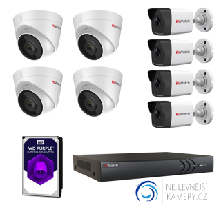 4MP IP 8-kamerový set od Hikvision