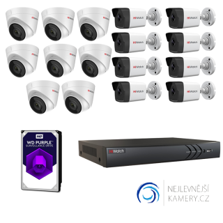 4MP IP 16-kamerový set od Hikvision