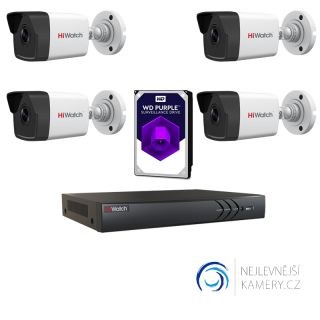 3MP IP 4-kamerový set od Hikvision